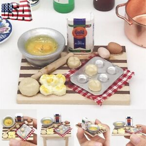 Dollhouse 1:12 Mini Kitchen Accessories Cooking Dish Furniture Decor Kids Toys Dollhouse Miniatures