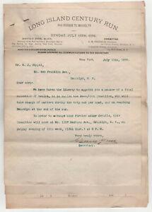RARE-1894-LONG-ISLAND-CENTURY-RUN-Sag-Harbor-BROOKLYN-Cycling-BICYCLE-Lot-DOCS