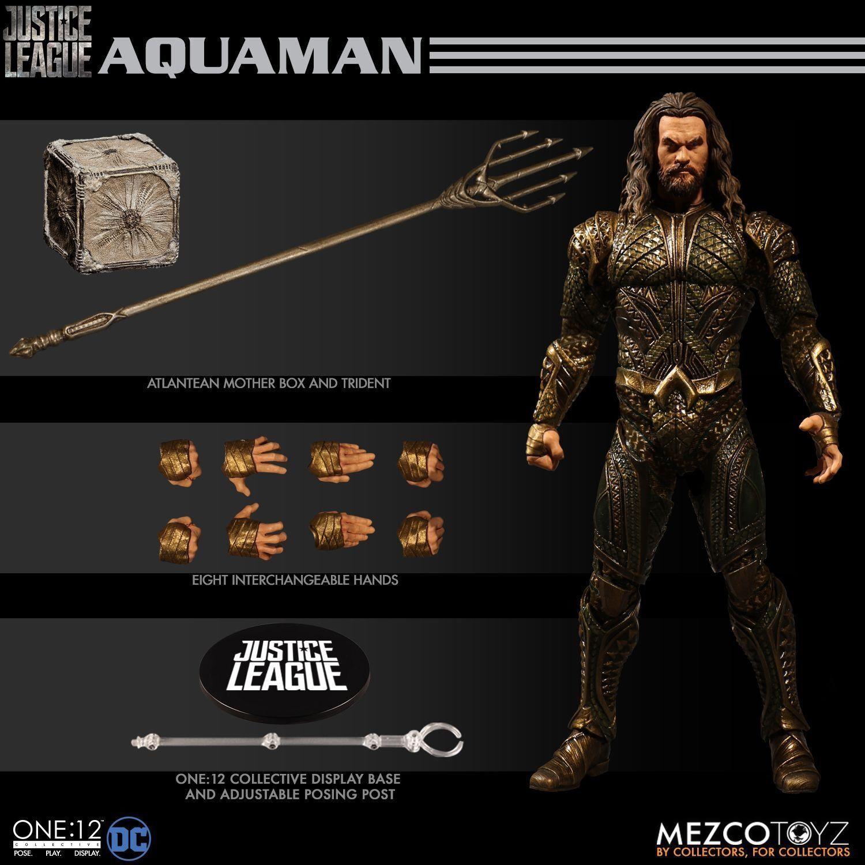 Mezco leksakz One 12  samlaive Aquaman Figur DC läderlappen Justice League Onyx