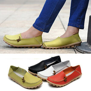 HOT-Sale-Womens-Padded-Leather-Casual-Walking-Bowed-Loafers-Moccasin-Flat-Shoes