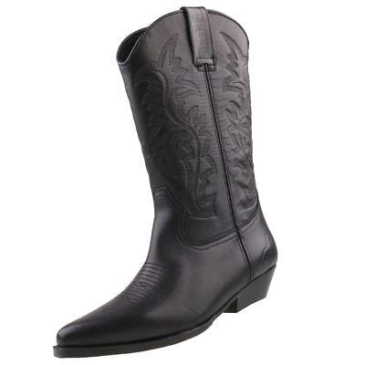 Mytrendshoe Herren Cowboy Boots Western Stiefel Spitze Schuhe 825442, Farbe: Dunkelbraun, Größe: 40