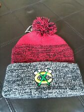 39d5a82d740c6 Chicago Blackhawks 47 Brand NHL Static Pom Knit Winter Hat New NWT OSFA