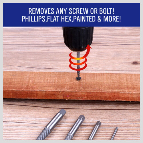 10pc Screw ExtractorLeft Hand Cobalt Drill Bit Set Easy Out Broken Bolt