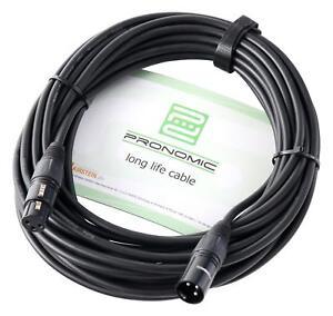 10m-Cable-de-Microphone-DMX-Scene-Audio-DJ-XLR-3-Broches-Femelle-a-Male-Noir