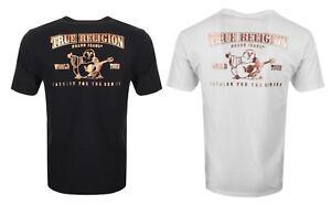 True Religion Brand Jean Men's Metallic Branded Horseshoe Shirt Tee Black White
