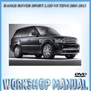 range rover sport l320 v8 tdv6 2005 2012 workshop service repair rh ebay com au workshop manual range rover sport 2010 range rover sport workshop manual 2007