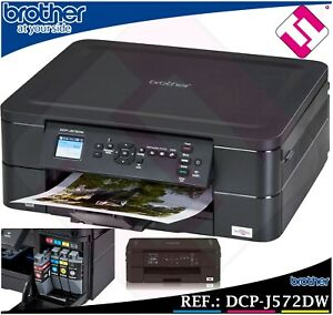 Trempé Impresora Multifuncion Color Brother Dcp J572dw Wifi Duplex Tintas Economicas
