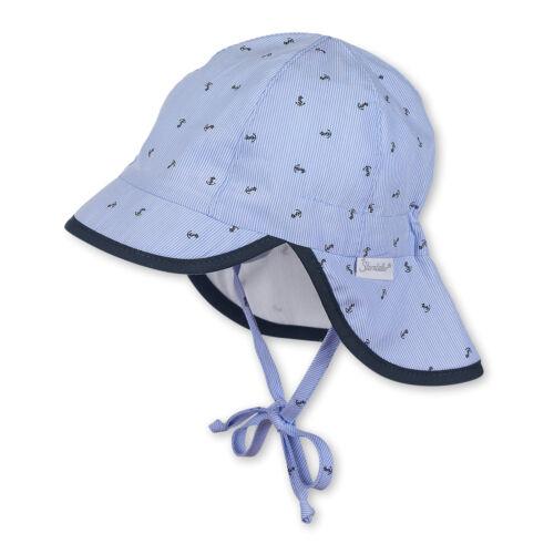 Sterntaler Baby Jungen Sommer Schirmmütze Gr.39-51 mit Nackenschutz UV Schutz 50