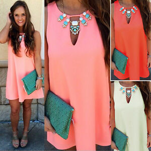 Womens sexy boho short mini dresses ladies summer beach party sundress