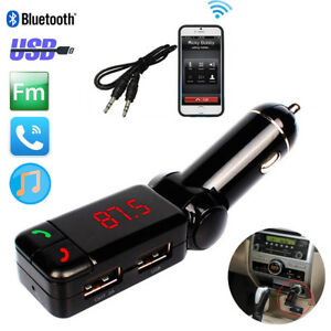 Bluetooth-Handsfree-FM-Transmitter-Car-Kit-Dual-CAB-Charger-Wireless-Stereo-MP3