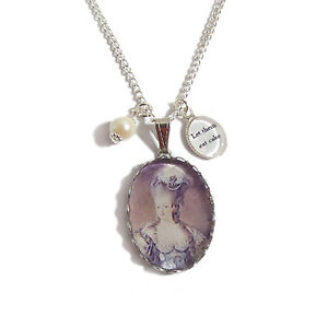 Marie-Antoinette-LET-THEM-EAT-CAKE-charm-necklace-paris-royalty-pearl-silver