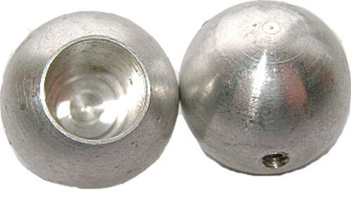 "Set of 2 CORONA BALLS High Quality Solid Aluminum for CB Antenna  5//8/"" Static"
