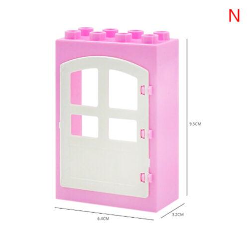 House big particles building movable window door bricks kids assemble toys