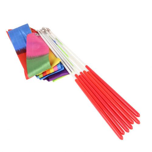 1M Dance ribbon gymnastic ballet streamer twirling rod for kids children toys Fy