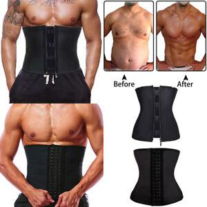 0d0a3a171a3 Men Gym Body Shaper Waist Training Back Support Shapewear Latex ...