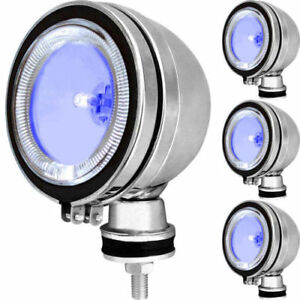 2-X-6-034-BLUE-SPOT-LIGHT-RING-LED-CHROME-ANGEL-EYE-FOGLIGHT-CAR