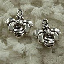 free ship 45 pieces tibetan silver bee charms 17x16mm #2802