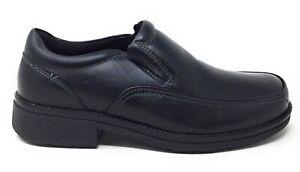 Propet-Mens-MB103-Andrew-Slip-On-Loafer-Dress-Shoes-Black-Leather-Size-10-M