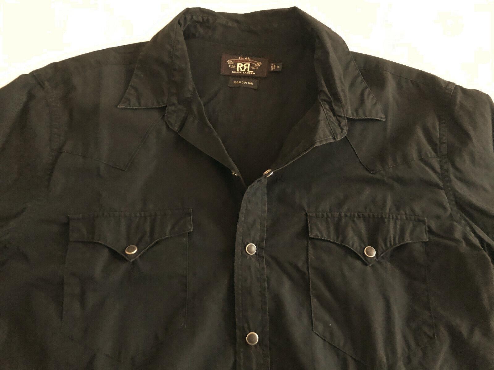Camisa Ralph Lauren RRL negro XL western