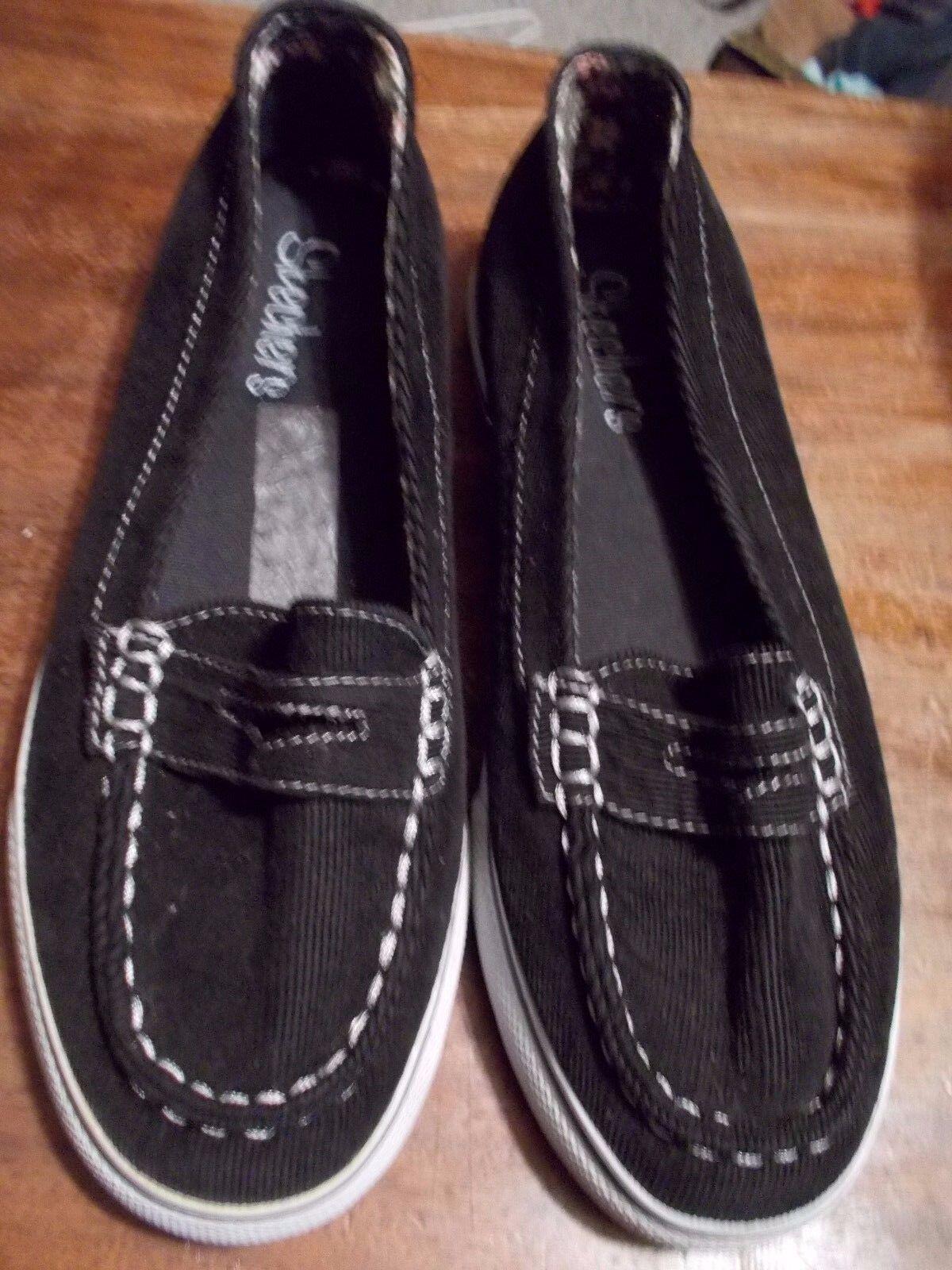 Skechers BLACK FABRIC Slip On Sneaker SIZE 6 Great discount