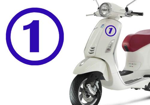 Stiker vinyl cut number ONE Outdoor or indoor Pegatina vinilo Numero 1 UNO
