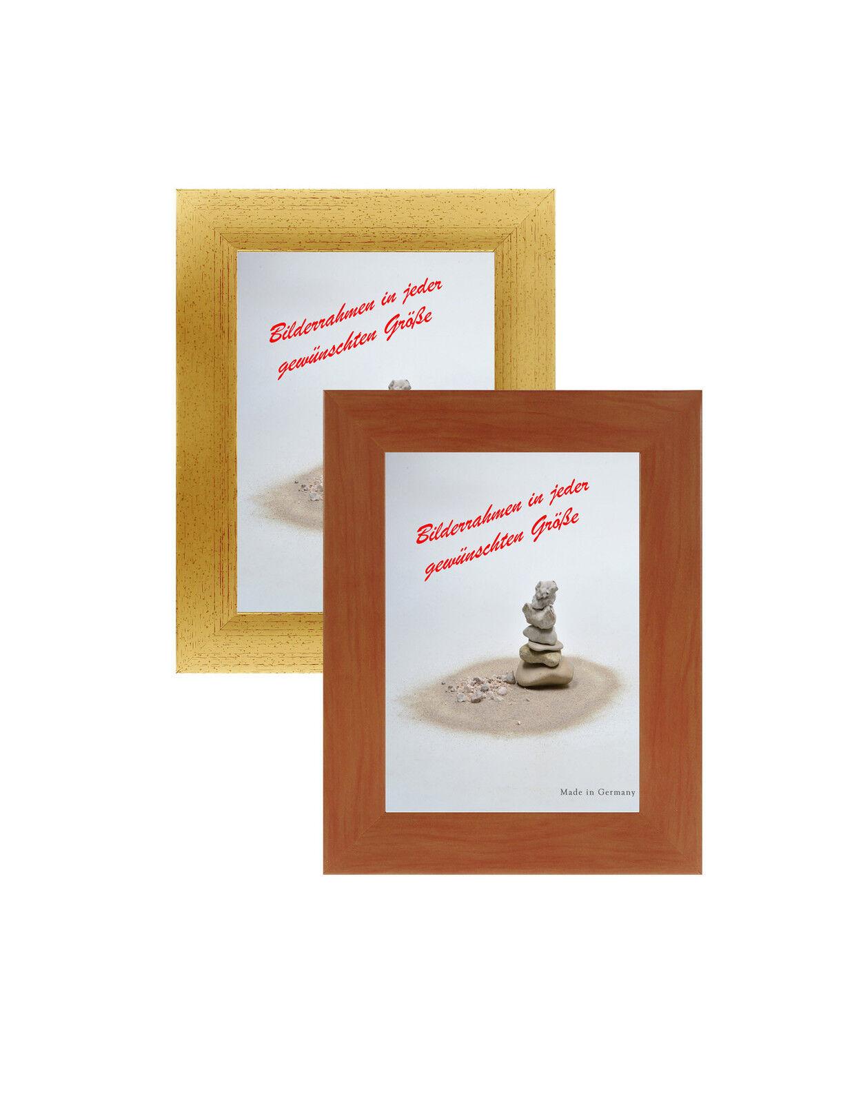 Marco de cuadro cuadro cuadro plástico con 2 especies de vidrio clásica barra de 109 marrón, oro 85e744