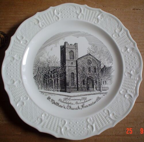 The Thomas Studio Collectors Plate ST MATTHEWS CHURCH FRANCISVILLE