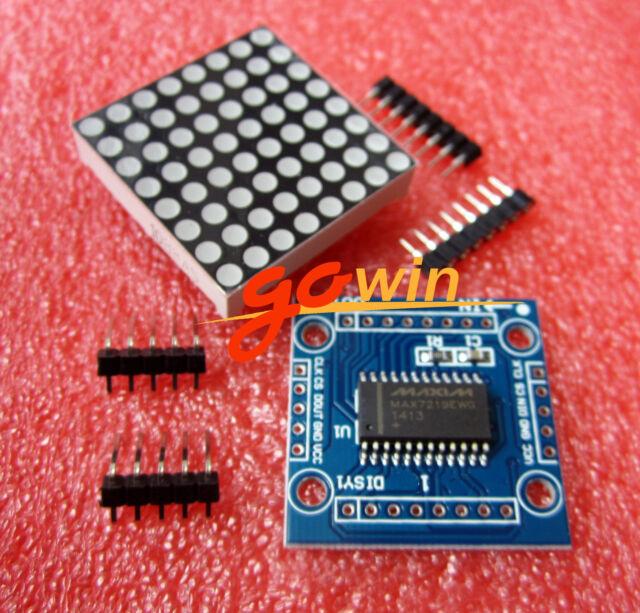 10PCS Arduino microcontroller MAX7219 dot matrix module control Display DIY KIT