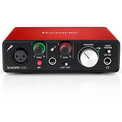 2nd Generation With Pro Tools And Focusrite Scarlett Solo Usb Audio Interface