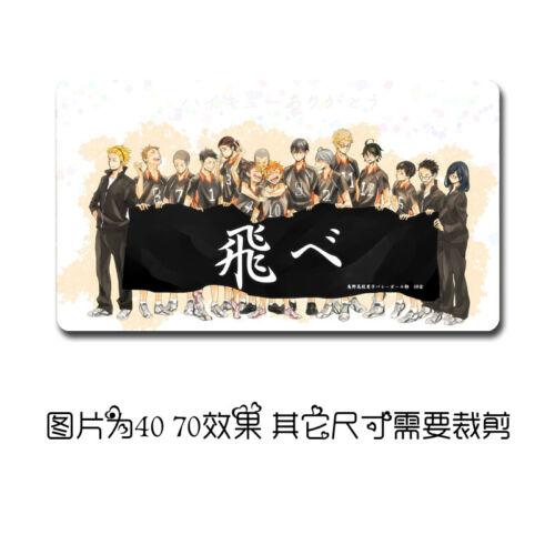 Anime Haikyuu! Custom XL Mouse Otaku Pad Play mat GAME Mousepad 70x40cm Hot