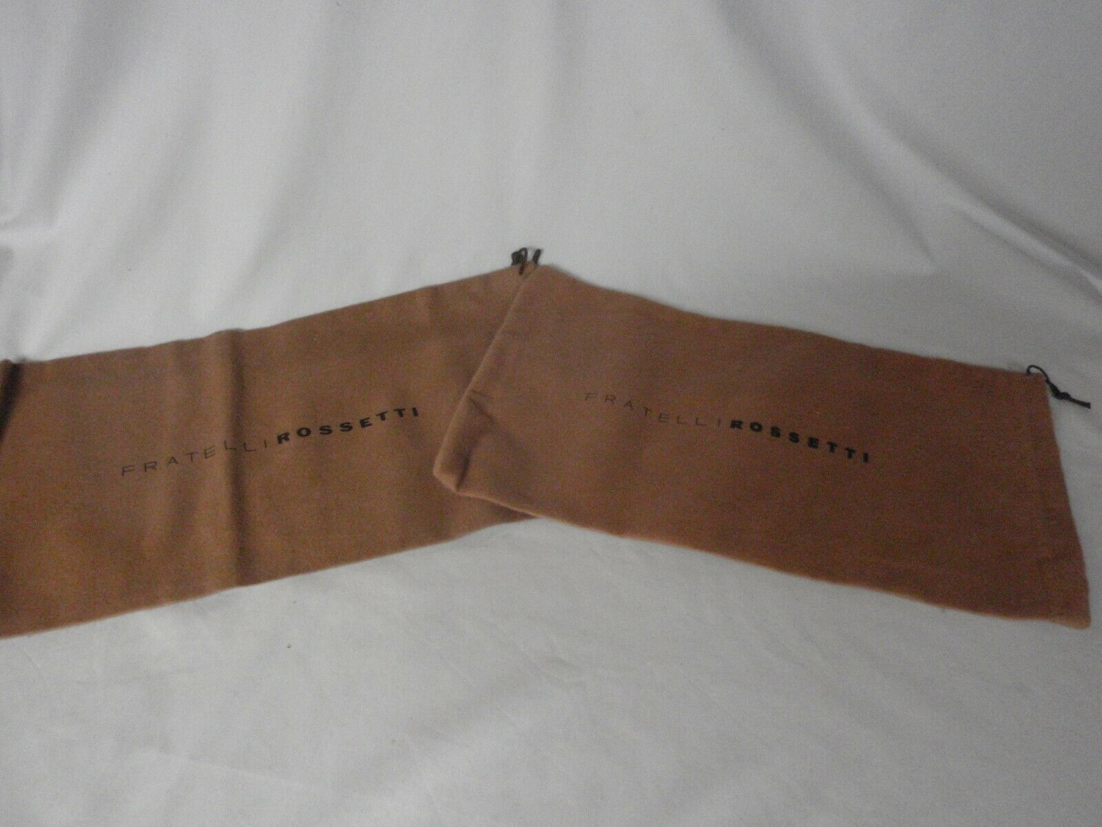 NEW FRATELLI ROSSETTI Brown Cotton Shoebags Sleeper Dustbags Sleeper Bags 1 pair