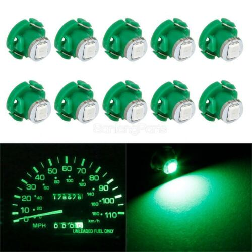 10x Green T4.2//T4 Neo Wedge LED Bulb Cluster Instrument Dash Climate Light Lamps