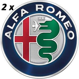 2 stemma alfa romeo giulietta mito 147 156 159 logo fregio anteriore posteriore ebay. Black Bedroom Furniture Sets. Home Design Ideas