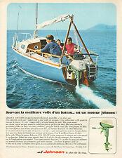 Publicité Advertising 1967  JOHNSON moteur de bateau