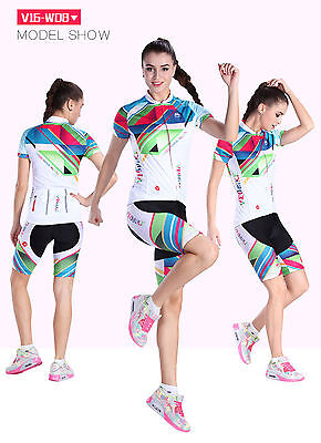 Bike woman Cycling Bicycle Jerseys Shirt Pant Set Outdoor Sports Team  YF519
