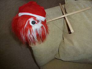 Marionette Puppet in Santa Hat Holiday Great Condition