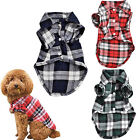 Cute Pet Dog Puppy Plaid Shirt Coat Clothes T-Shirt Top Apparel XS S M L Showy