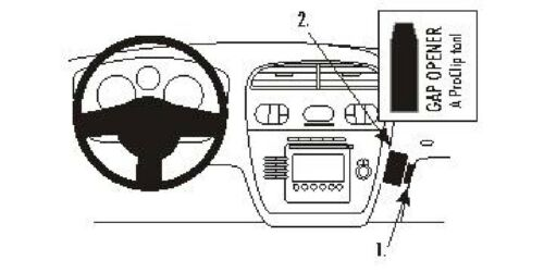Brodit ProClip 853492 Console di montaggio per Seat Altea XL Anno 2008-2015