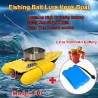 T10 Fishing Bait Boat Hook Rc Boat 300m Remote Control + Free 9600mah Battery