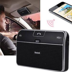 TOP-Kit-Voiture-Visiere-Main-Libre-Stereo-sans-fil-Bluetooth-4-0haut-parleur-VS