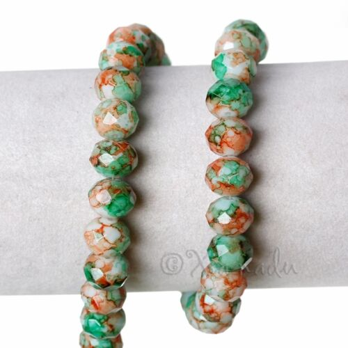 Green Brown Wholesale 10mm Crystal Rondelle Glass Beads G8093-20 50 Or 100PCs