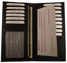AG Wallets Genuine Leather Cowhide ID Checkbook Cover Slim Men/Women Black
