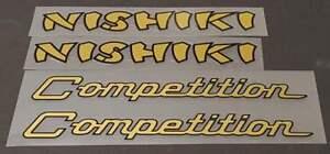 Nishiki Down Tube Decals sku Nish103 1 Pair