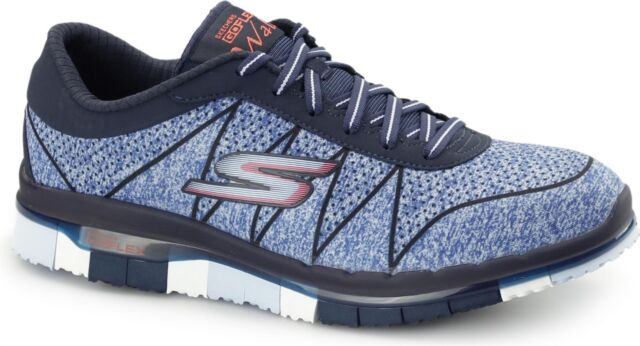8ac352536a2d Skechers GO FLEX WALK - ABILITY Ladies Womens Sports Fitness Trainers  Navy Blue