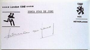 XENIA STAD DE JONG 1948 OLYMPIC 4x100m GOLD MEDAL WINNER INK AUTOGRAPH - BUSHEY, HERTFORDSHIRE, United Kingdom - XENIA STAD DE JONG 1948 OLYMPIC 4x100m GOLD MEDAL WINNER INK AUTOGRAPH - BUSHEY, HERTFORDSHIRE, United Kingdom