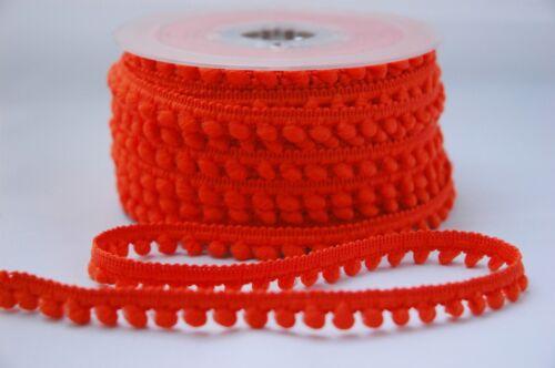Mini Pompom 5mm Tiny Ribbon Trim Trimming Bobble Braid Fringe Christmas