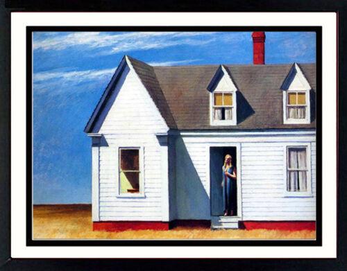 Quality 24 x 33 Edward Hopper Custom Framed  Print High Noon A