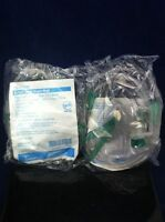 Lot Of 2 Airlife Adult Oxygen Masks Vinyl Under The Chin Style 3 In 1 001203