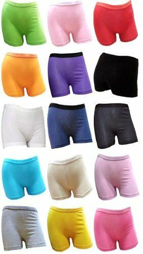 GIRL'S/LADIES COTTON LYCRA STRETCHY BOXER SHORTS FOR  SPORTS &UNDER SCHOOL SKIRT