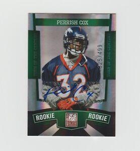 Perrish-Cox-Broncos-2010-Donruss-Elite-Turn-Of-The-Century-Rookie-166-325-499